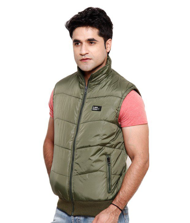 Fort Collins Green Sleeveless Bomber Jacket