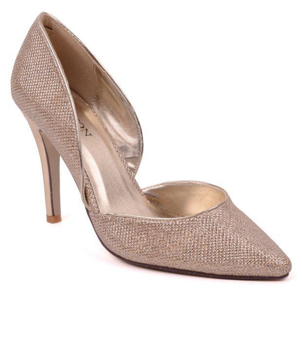 Carlton London Golden Slip-on Heels