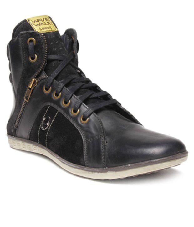 I-Shoes Steve Black High Ankle Length Boots