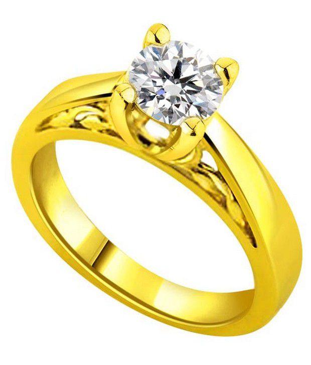 Surat Diamond 0.1 Cts. Diamond 18Kt Yellow Gold Wedding & Engagement Rings