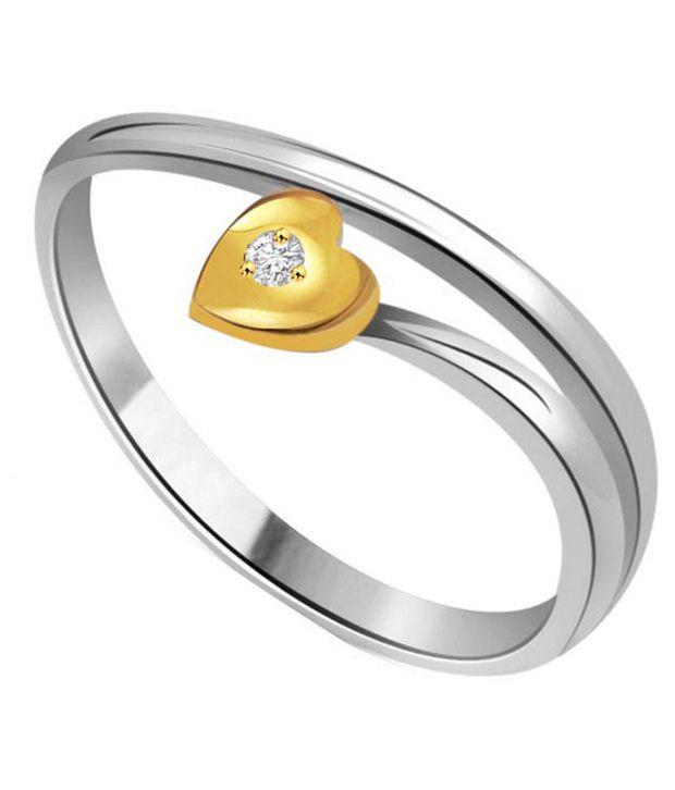 Surat Diamond 0.07 Cts. Diamond 18Kt Yellow Gold Hearts Rings