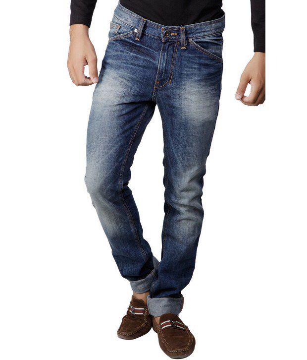 Benetton Blue Faded Jeans