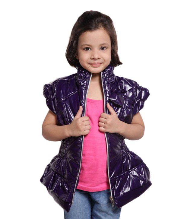 Little Aiva Purple Girls - Jackets For Kids