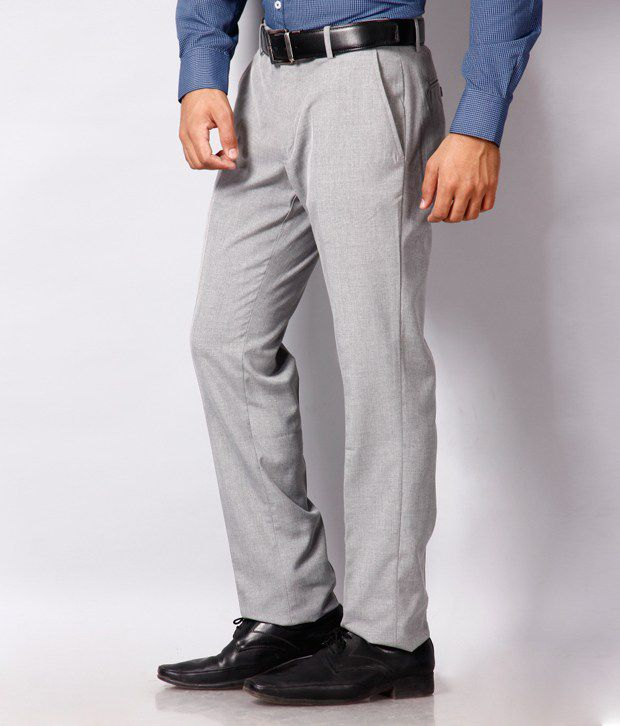 Black Coffee Grey Formal Trouser Sharp Fit