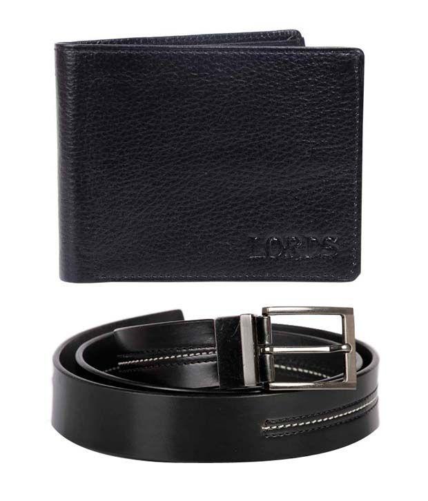 Lords Black Belt & Wallet Combo