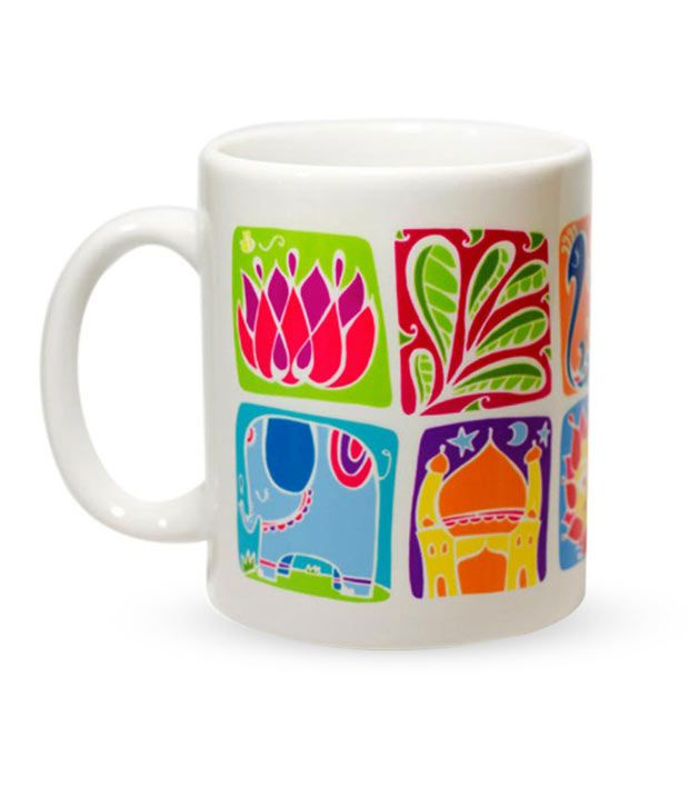 Chumbak India Square Pattern Coffee Mug