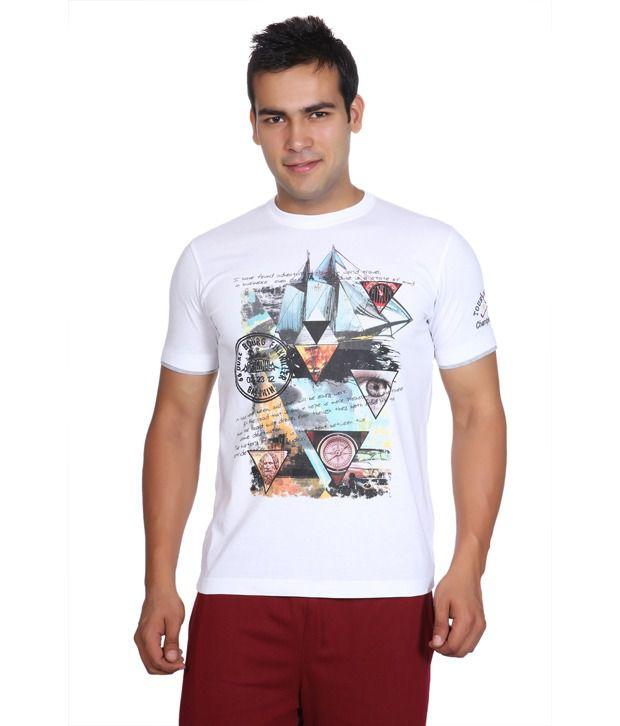 Duke White Printed T Shirt