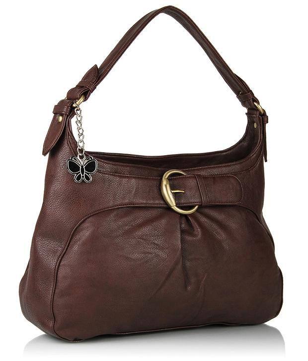 Butterflies BNS0278 Brown Designer Shoulder Bag