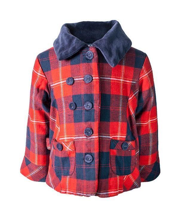 Nauti Nati Red/Navy Yarn Dyed Jacket For Kids