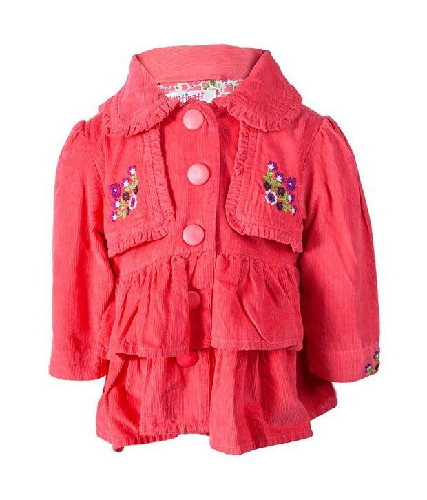 Nauti Nati Coral Corduroy Jacket For Kids