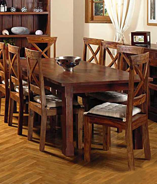 set buy induscraft wooden dining table set online at best prices