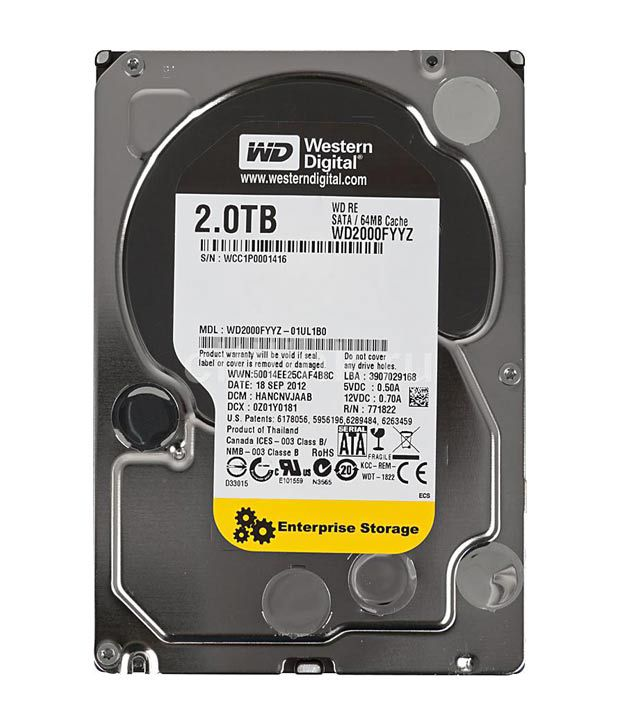 WESTERN DIGITAL 2 TB enterprise sata (WESTERN DIGITAL 2000FYYZ)