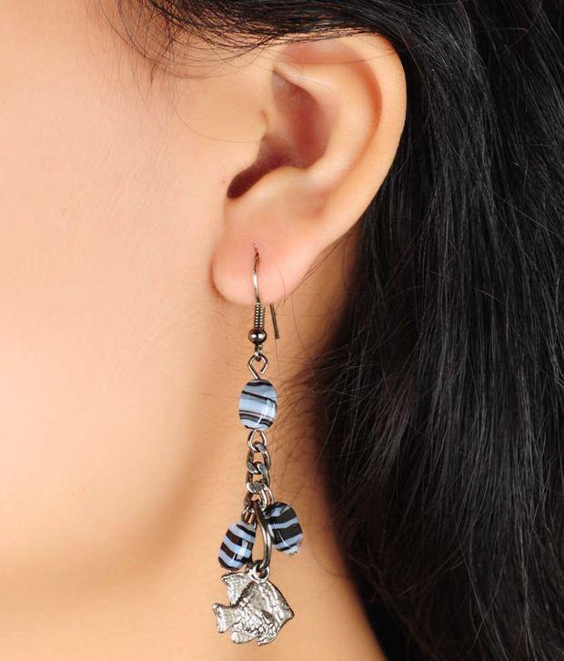 Loran Handicraft Pretty Multicoloured Hanging Earrings