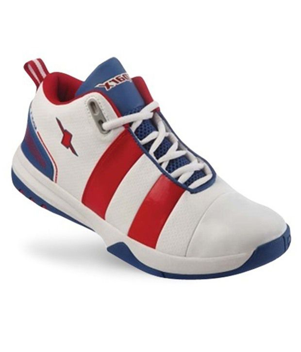 Sparx Gusto White \u0026 Red Sports Shoes