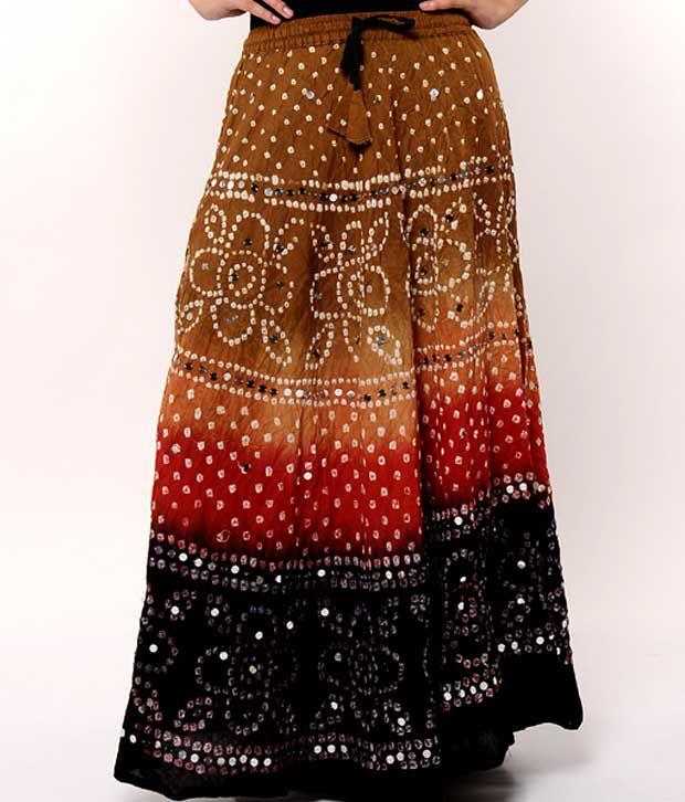 Rajasthani Sarees Cotton Straight Skirt