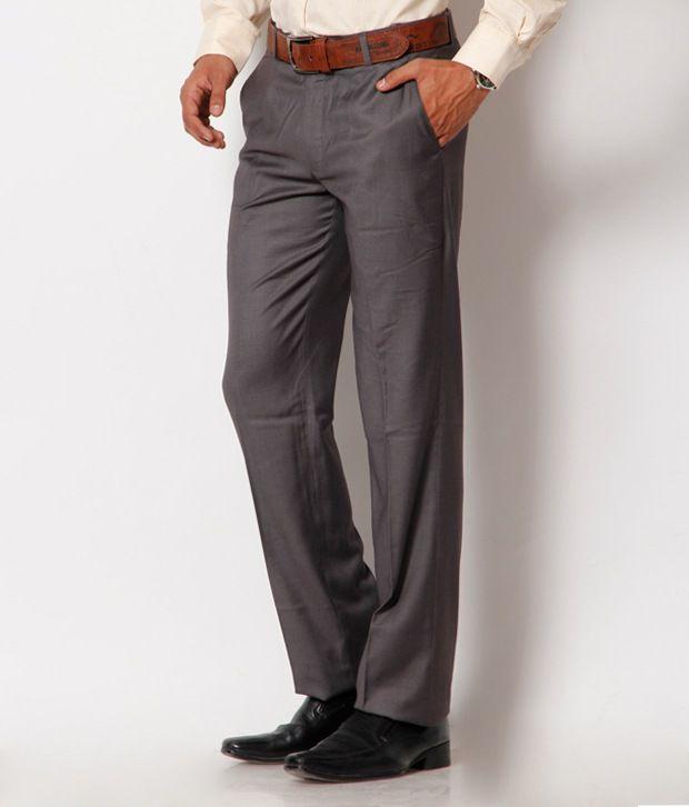 Jogur Dark Grey Regular Fit   Trouser