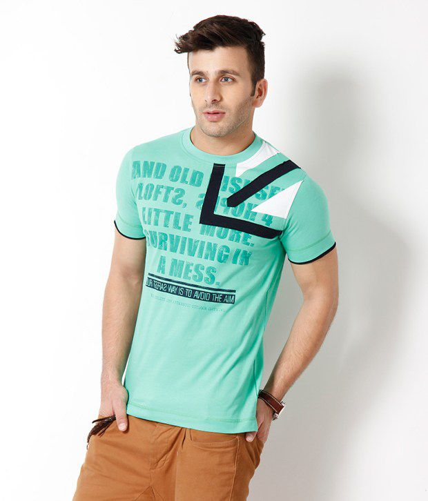 Riverstone Green Cotton T Shirt
