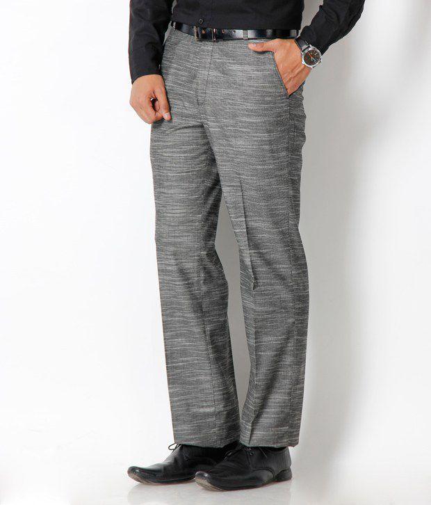 Platinum Studio Dark Grey Semi Formal Trouser