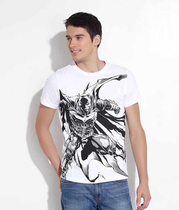 Fcuk White Angry Batman Universal Tee