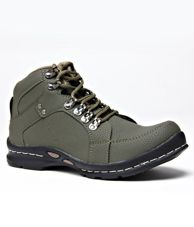 Wave Walk Olive Green Ankle Length Boots