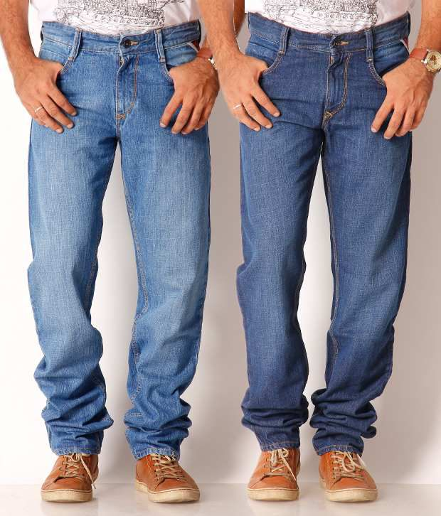 John Players Pack of 2 Blue Jeans