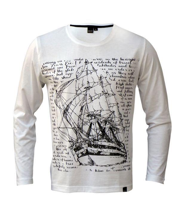 Rigo White Voyage Ship T-Shirt