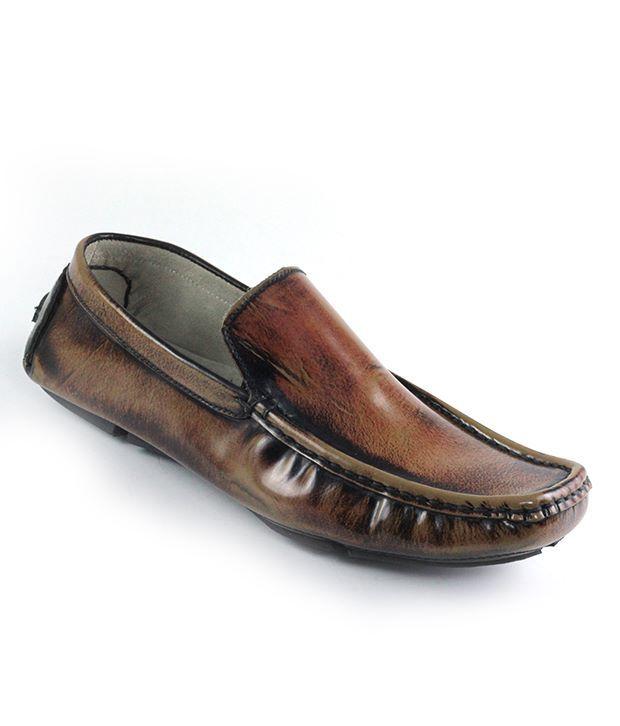 Dziner Mocassin Tan Stylish Loafer