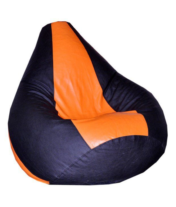 Biggie Black Amp Orange Bean Bag With Beans Xxxl Buy