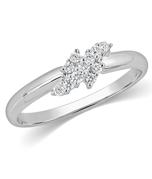 KAMA Jewellery Platinum 0.12Cts. VS/SI Diamond  Ring