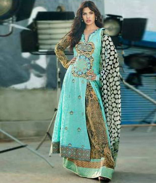 c80390cc9b Aksana Unstitched Cotton Lawn Pakistani Suit - Buy Aksana Unstitched Cotton  Lawn Pakistani Suit Online at Best Prices in India on Snapdeal