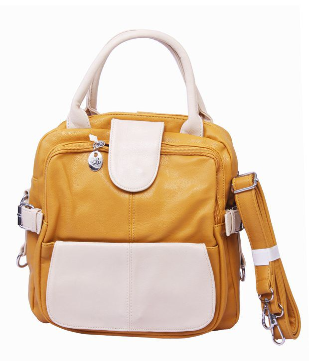 Midas Orange & Cream Satchel Bag
