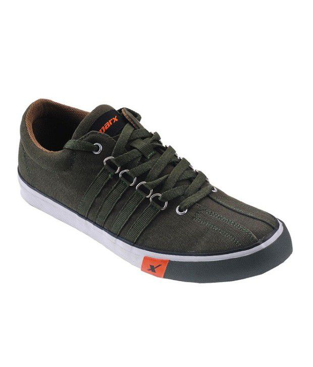 Sparx Green Canvas Shoes Art BSCO162OLIVE