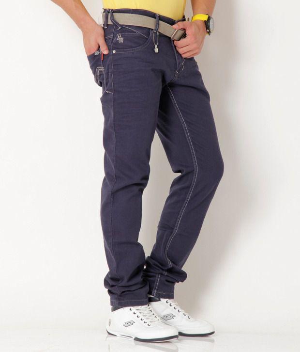Urban Navy Blue Basic Stretchable Jeans