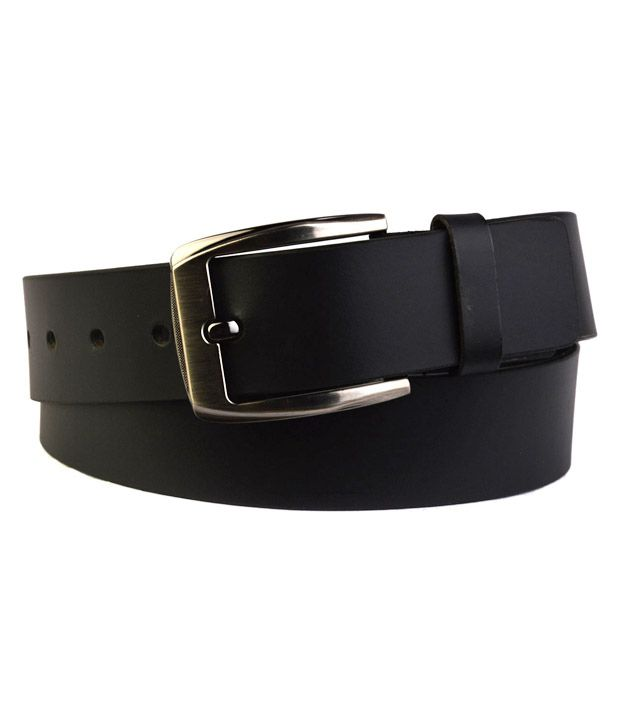 Shopatplaces Black Smooth Finish Belt