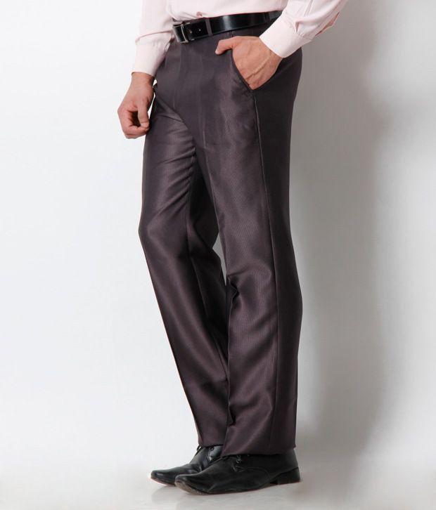 Platinum Studio Brown Formal Trouser