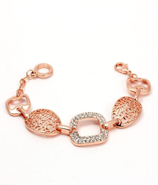 Khoobsurati Geometrics Alloy Charm Bracelet