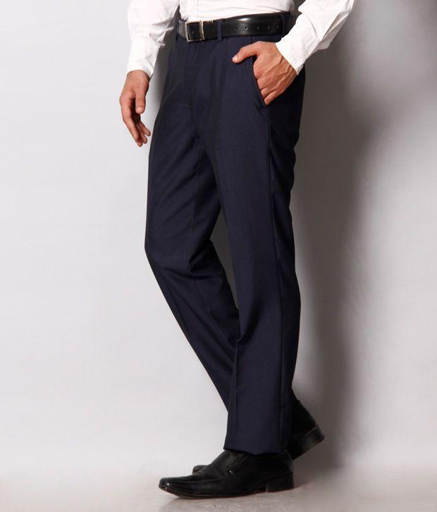 Black Coffee Smart Navy Trouser