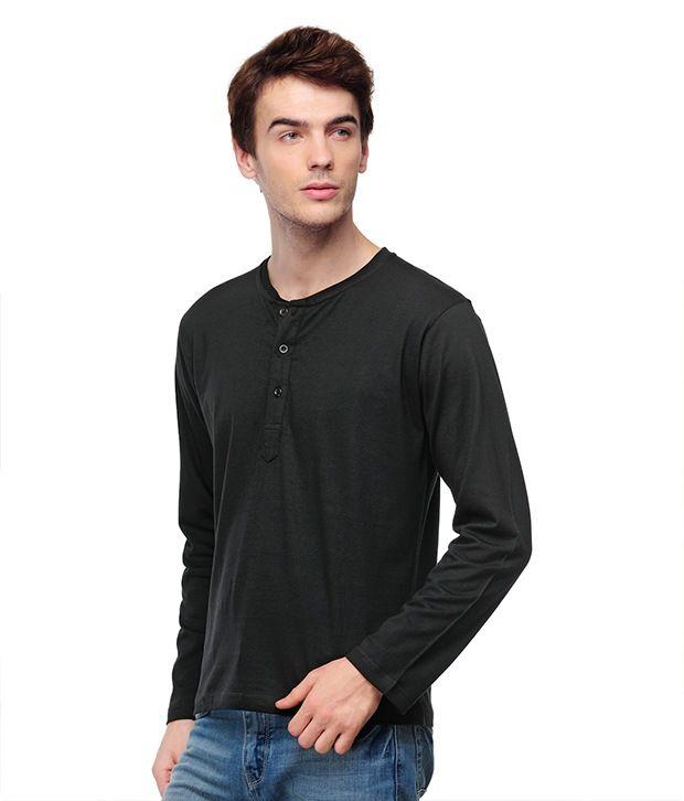 TSX Black Henley T Shirt