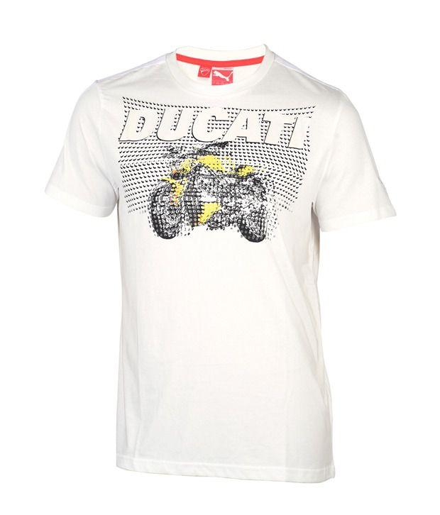Puma Stylish White T Shirt