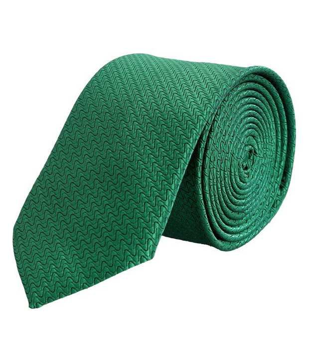 Tiekart Green Wavy Stripes Tie