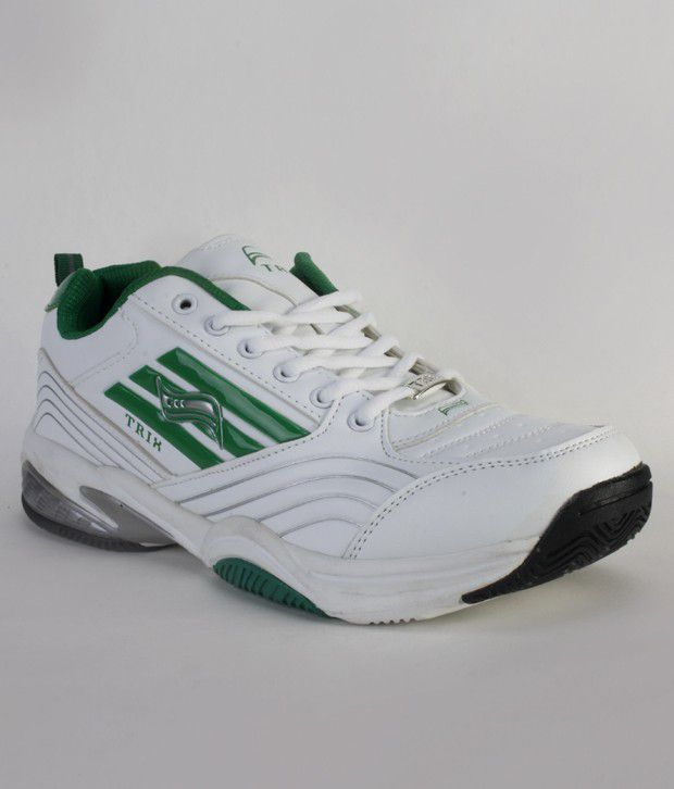 Vostro Feisty White & Green Sports Shoes