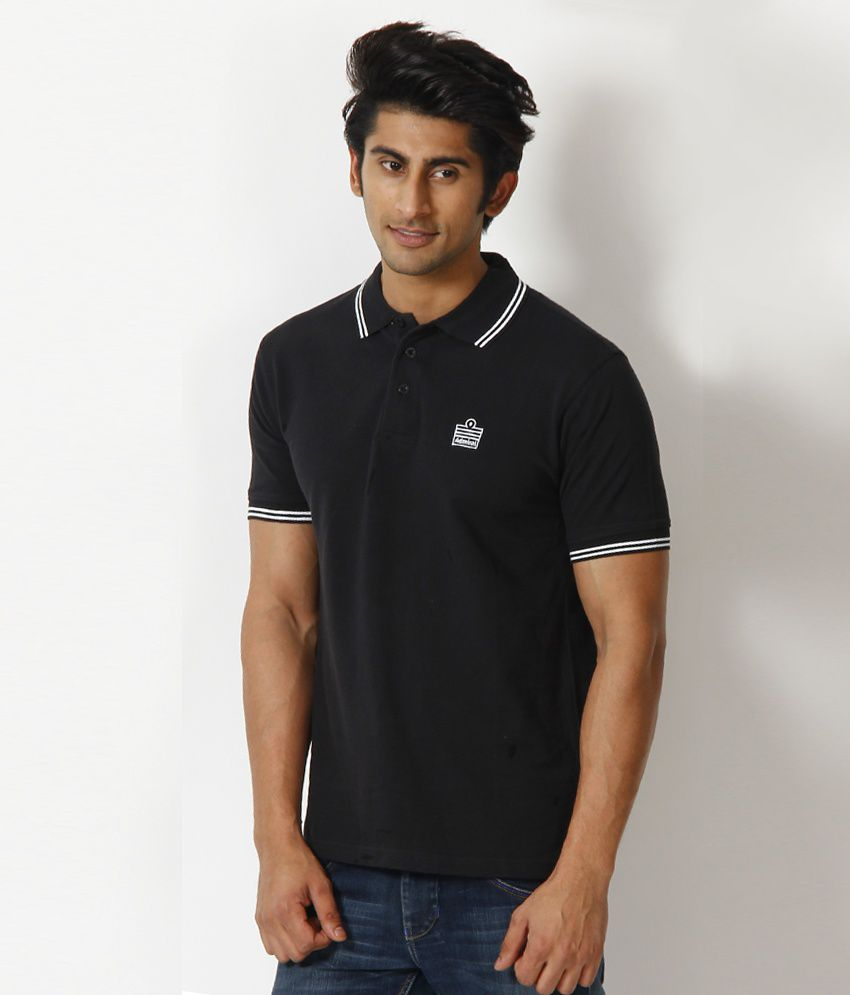 Admiral cool black polo t shirt buy admiral cool black for Cool polo t shirts