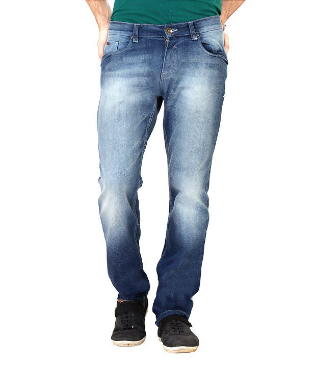 Euro Jeans Soft Faded Dark Blue Jeans For Men