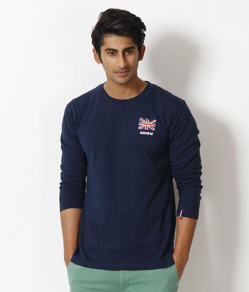 Admiral Navy Round Neck Basics T Shirt