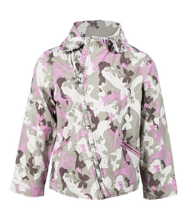 Nauti Nati 100% Cotton Army Print Jacket For Kids