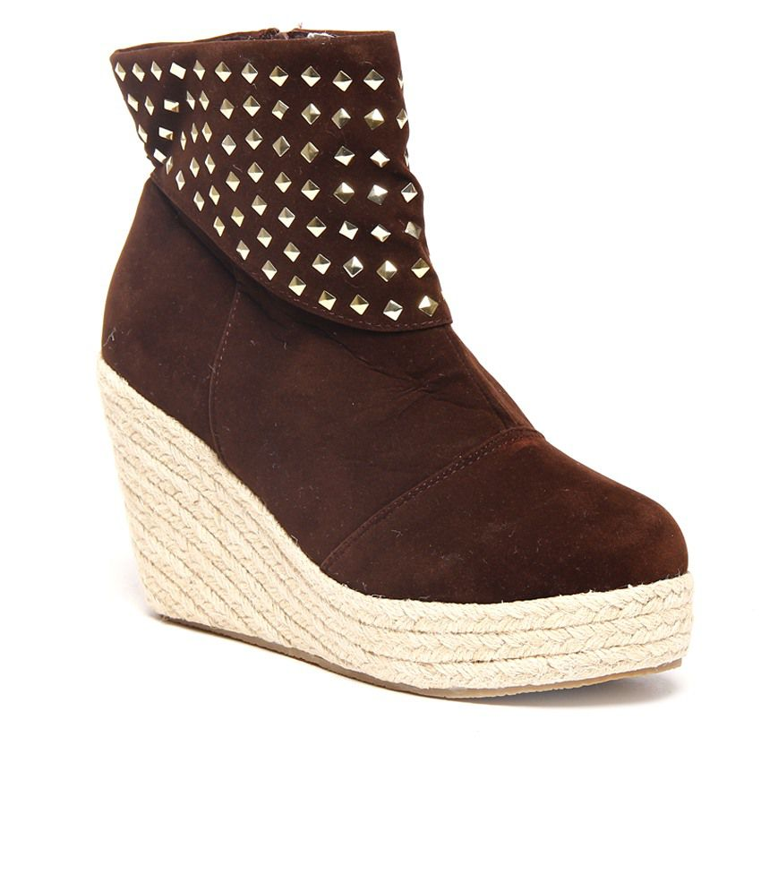 nell smart brown wedge boots price in india buy nell