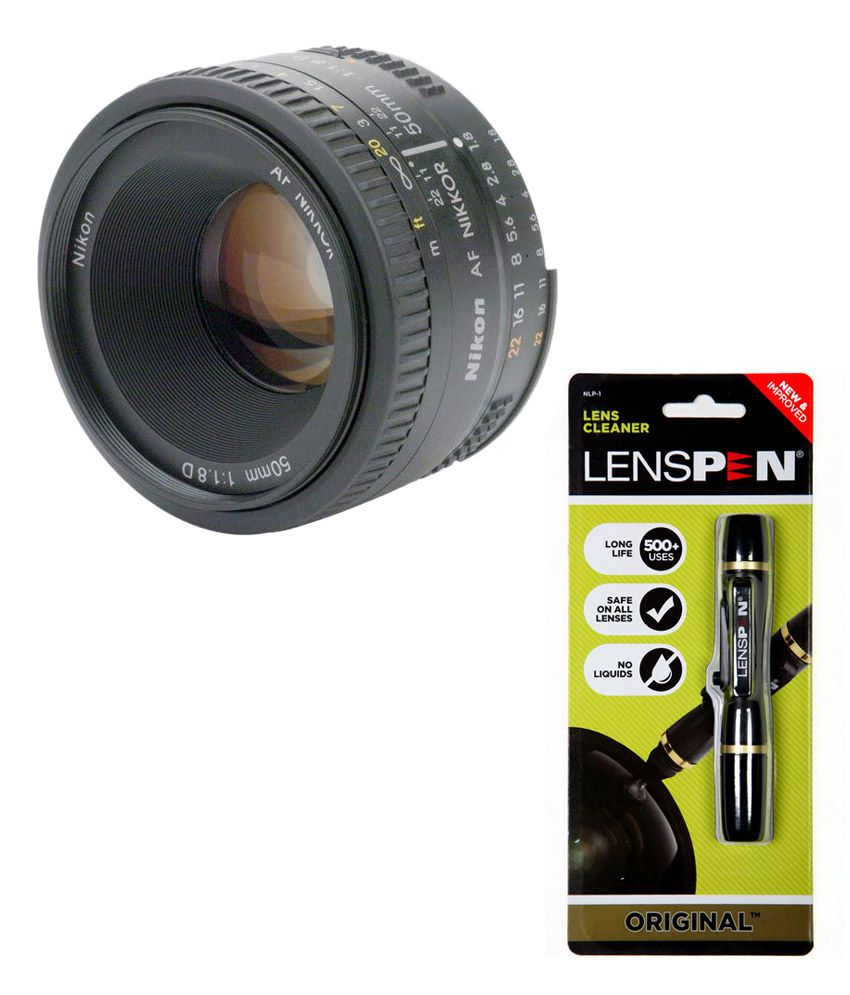 Nikon AF Nikkon 50mm f/1.8D Lens + Lenspen Lens Cleaner Combo