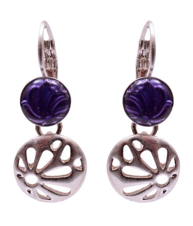Trendy Baubles Purple Earrings