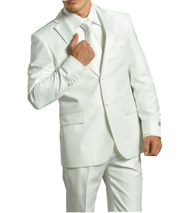 Gwalior Suitings White Party Suit Lengths