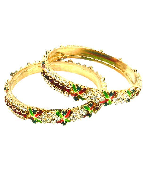 Expressions Set of Two Vibrant Multicolour Bangles